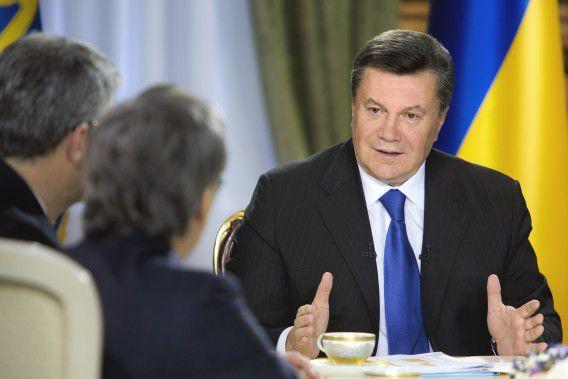 President Viktor Janoekovitsj.