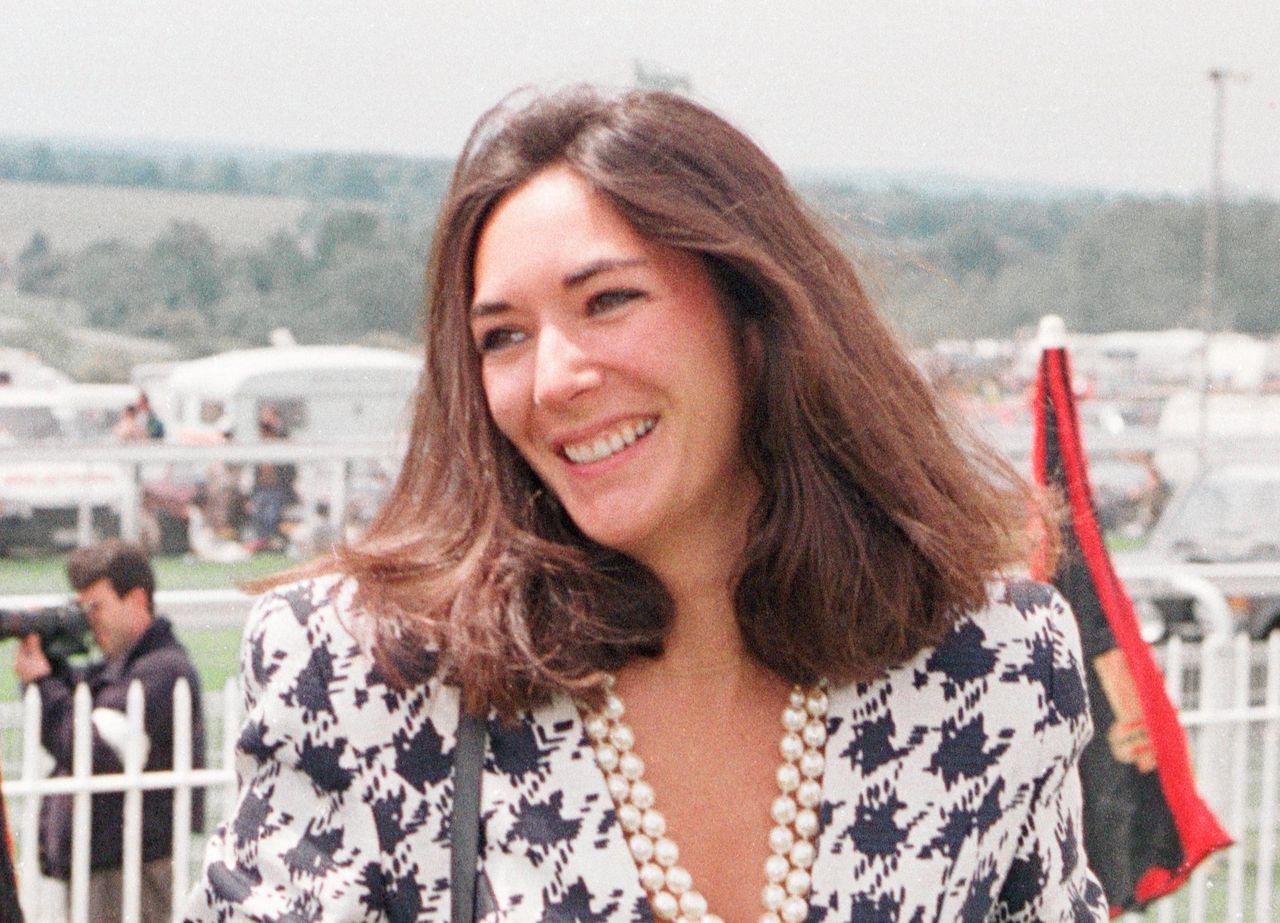 Ghislaine Maxwell in 1991. Ze is donderdag gearresteerd door de FBI.