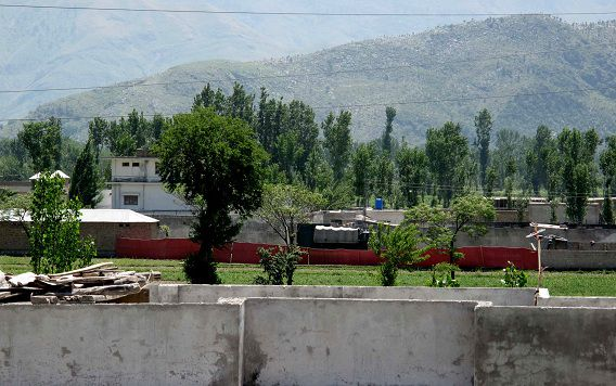The area of a compound where it is believed al-Qaida leader Osama bin Laden lived seen in Abbottabad, Pakistan on Monday, May 2, 2011. Bin Laden, the glowering mastermind behind the Sept. 11, 2001, terror attacks that killed thousands of people, was slain in his hideout in Pakistan early Monday in a firefight with U.S. forces, ending a manhunt that spanned a frustrating decade. (AP Photo/Anjum Naveed)