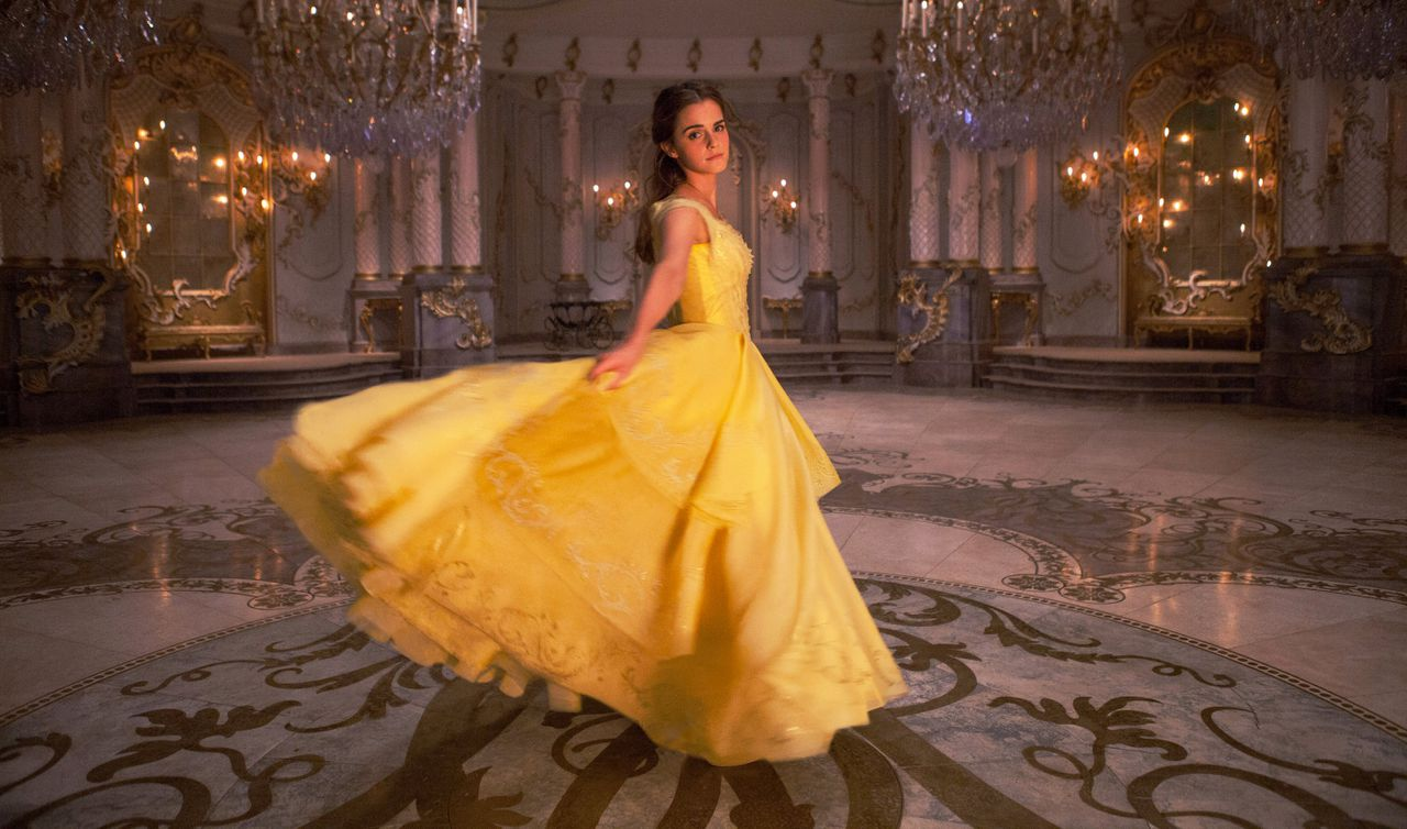 Emma Watson als Belle in de live action-versie van Beauty and the Beast.