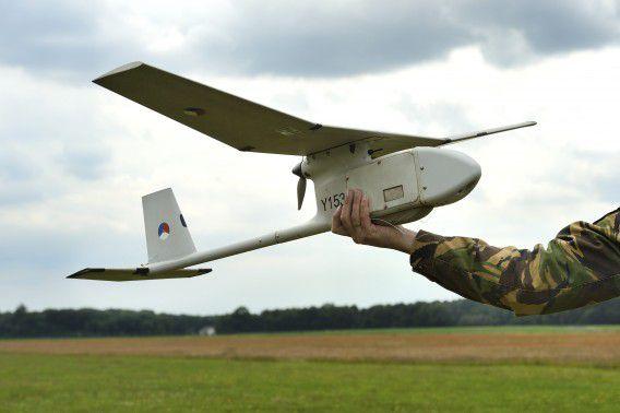 De Raven, een onbemand vliegtuigje dat Defensie inzet.