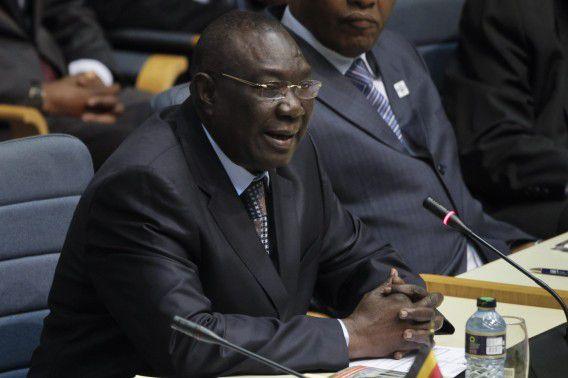 De afgetreden president Michel Djotodia tijdens een internationale conferentie vorig jaar in Kenia. Naar verluid zou hij nu asiel willen aanvragen in Benin.