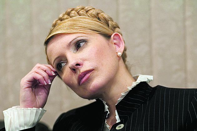 Yulia Timoshenko - ex-Prime-minister of Ukraine and a lider of polital party in Ukraine at the office in the center Kiev. 2006, January 29. Photo by Oleg Klimov. for the article by Tom Parfitt (Moscow bureau), Commissioned for G2