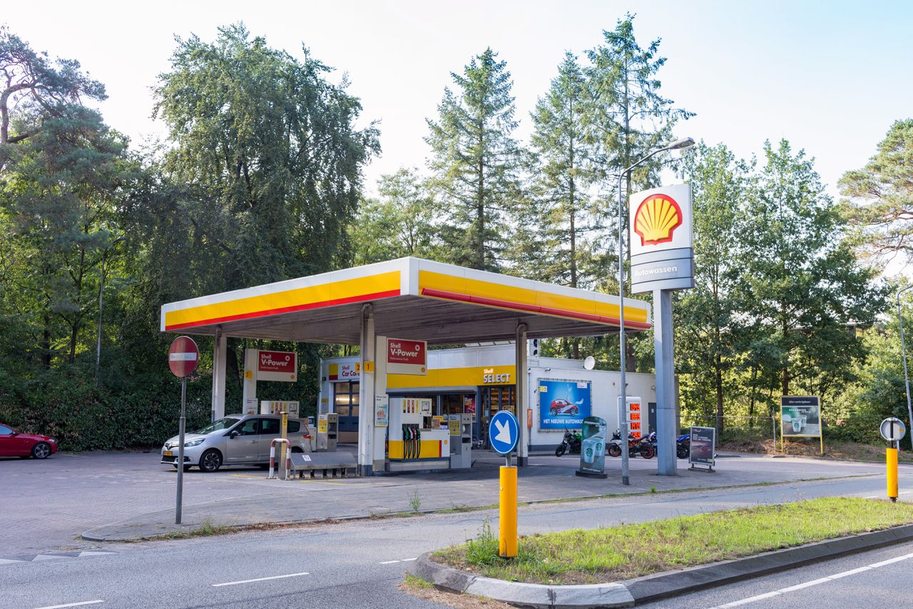 Pompstation van Shell in Nunspeet.