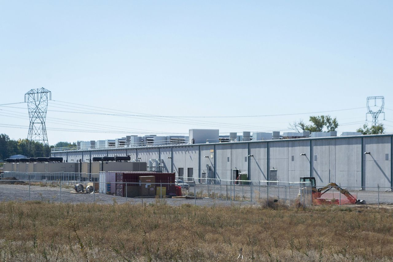 Een datacenter van Amazon in Boardman in de Amerikaanse staat Oregon.