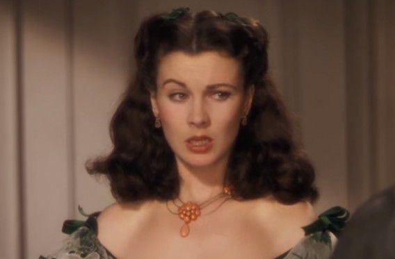Actrice Vivien Leigh, die in 1939 Scarlett O'Hara speelde in filmepos Gone With The Wind.