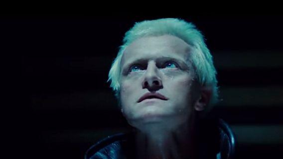 Rutger Hauer in Blade Runner (1982, Ridley Scott) als Roy Batty, één van de ontsnapte androïden.