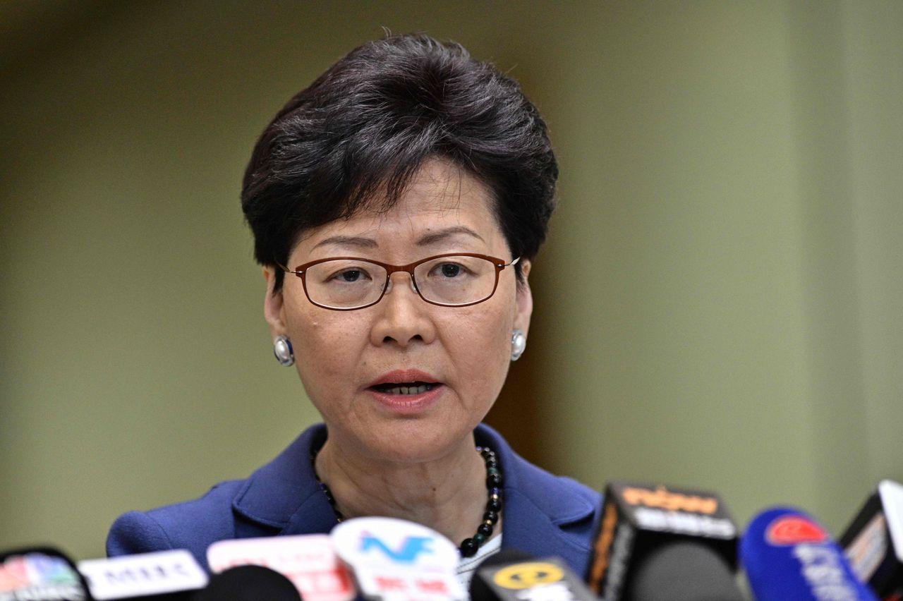 Lam tijdens de persconferentie maandag.
