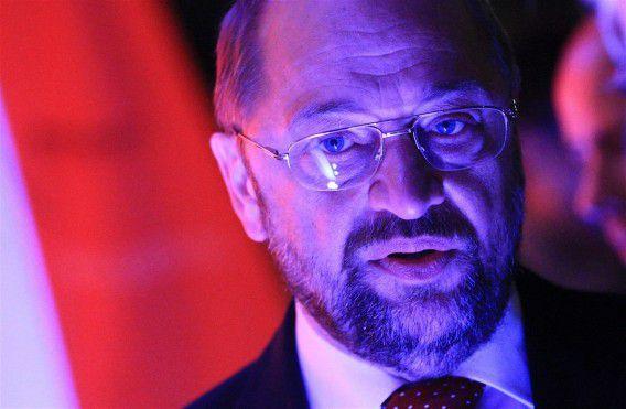 Martin Schulz pleit voor meer macht naar Europa. Foto EPA / Olivier Hoslet