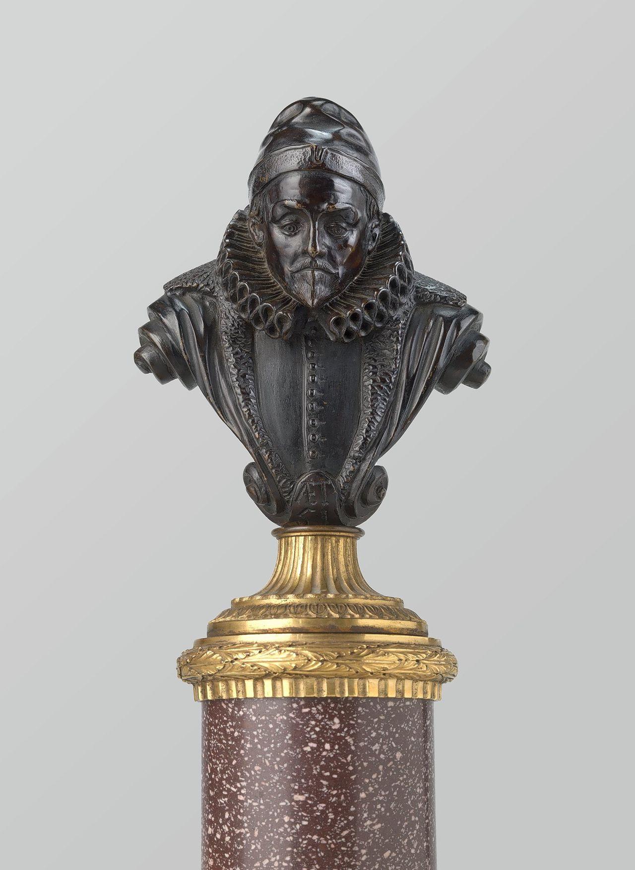 De door Hendrick de Keyser in 1620 gemaakte buste van Willem van Oranje die het Rijksmuseum heeft verworven.