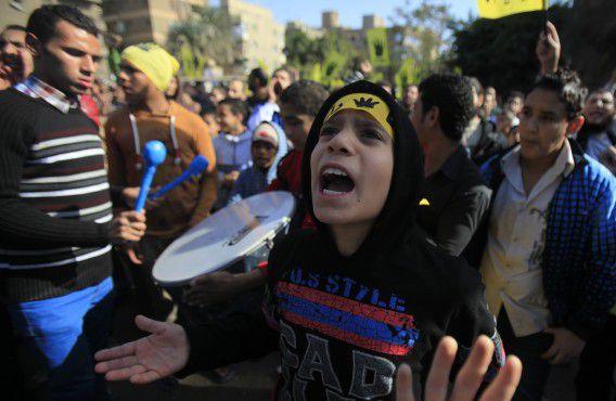 Een aanhanger van de Moslimbroederschap en oud-president Mohammed Morsi.
