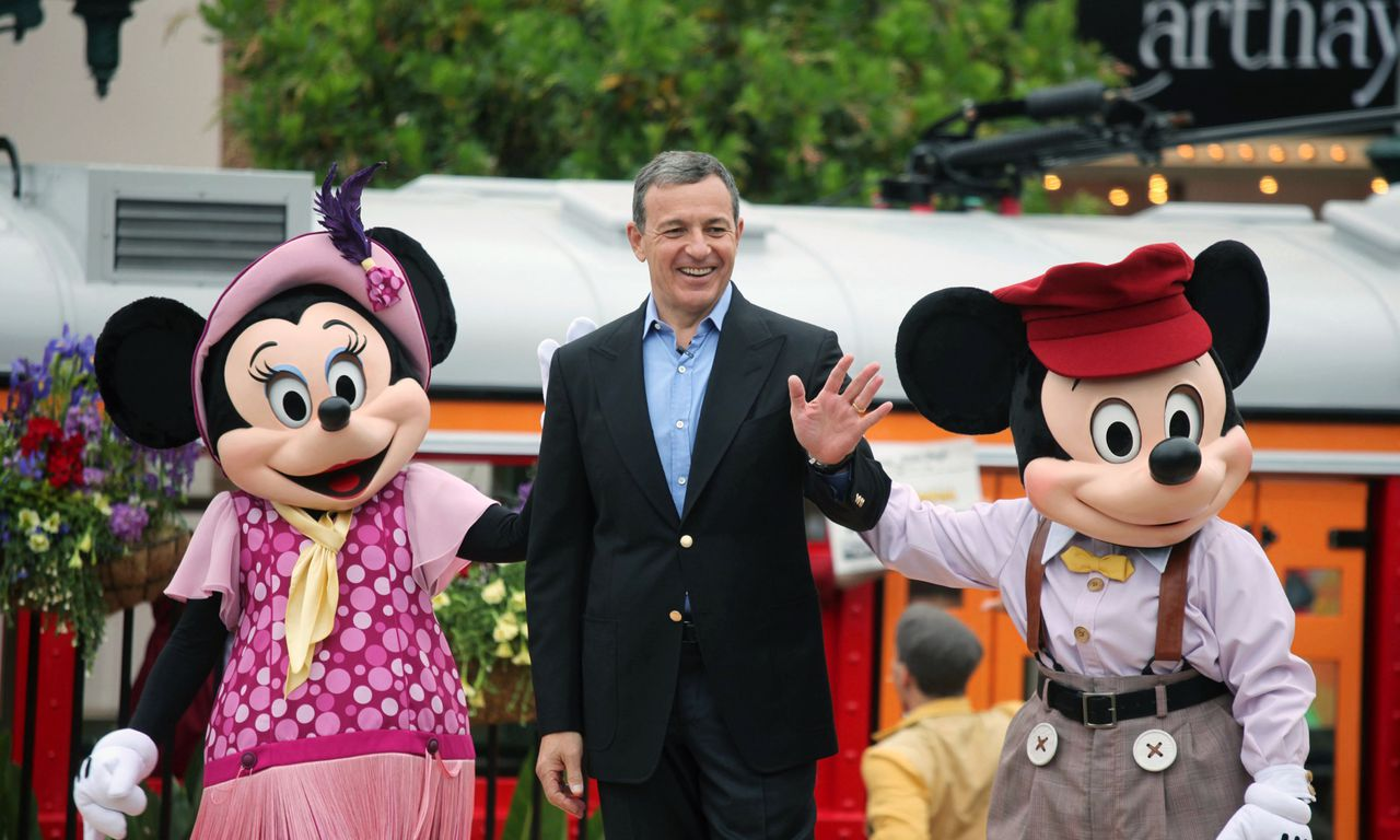 18 Jun 2012, Los Angeles, California, USA --- LOS ANGELES, CA- Robert A. Iger, Chairman and CEO of The Walt Disney Company, at the opening ceremony of the new California Adventure Theme park which includes CarsLand of friday June 15, 2012. Photo by J. Emilio Flores/Corbis --- Image by © J. Emilio Flores/Corbis