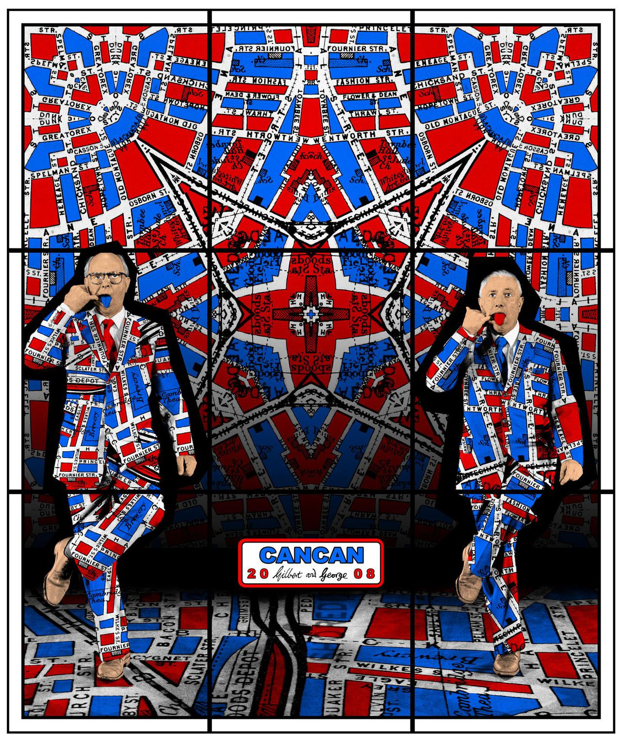 Gilbert & George: 'Can can', 2008