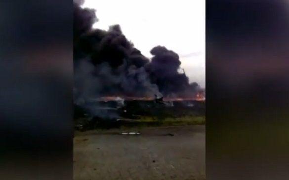 Waarschijnlijk de eerste beelden van de crash van MH17, gemaakt door een inwoer van Hrabove.