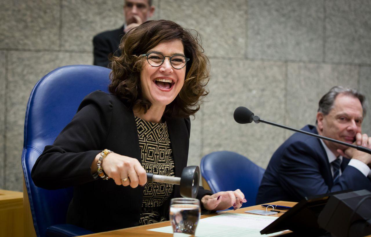 Kamervoorzitter Anouchka van Miltenburg tijdens het wekelijks vragenuurtje in de plenaire zaal van de Tweede Kamer eerder deze week.