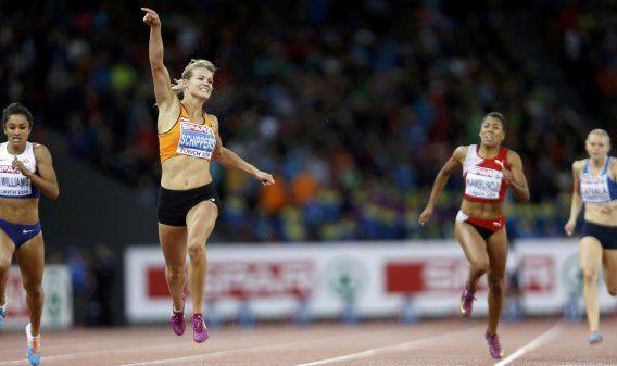Dafne Schippers wint de 200 meter.