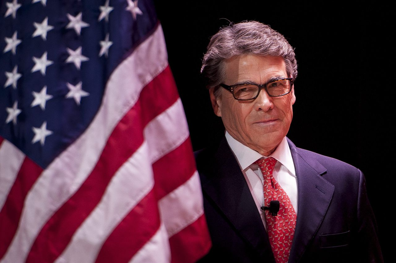 Rick Perry in februari tijdens een conferentie in Maryland.