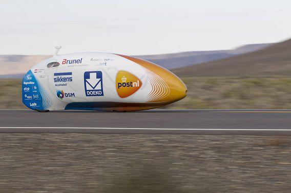 De VeloX3 van het Human Power Team Delft en Amsterdam waarmee het wereldrecord werd verbroken.
