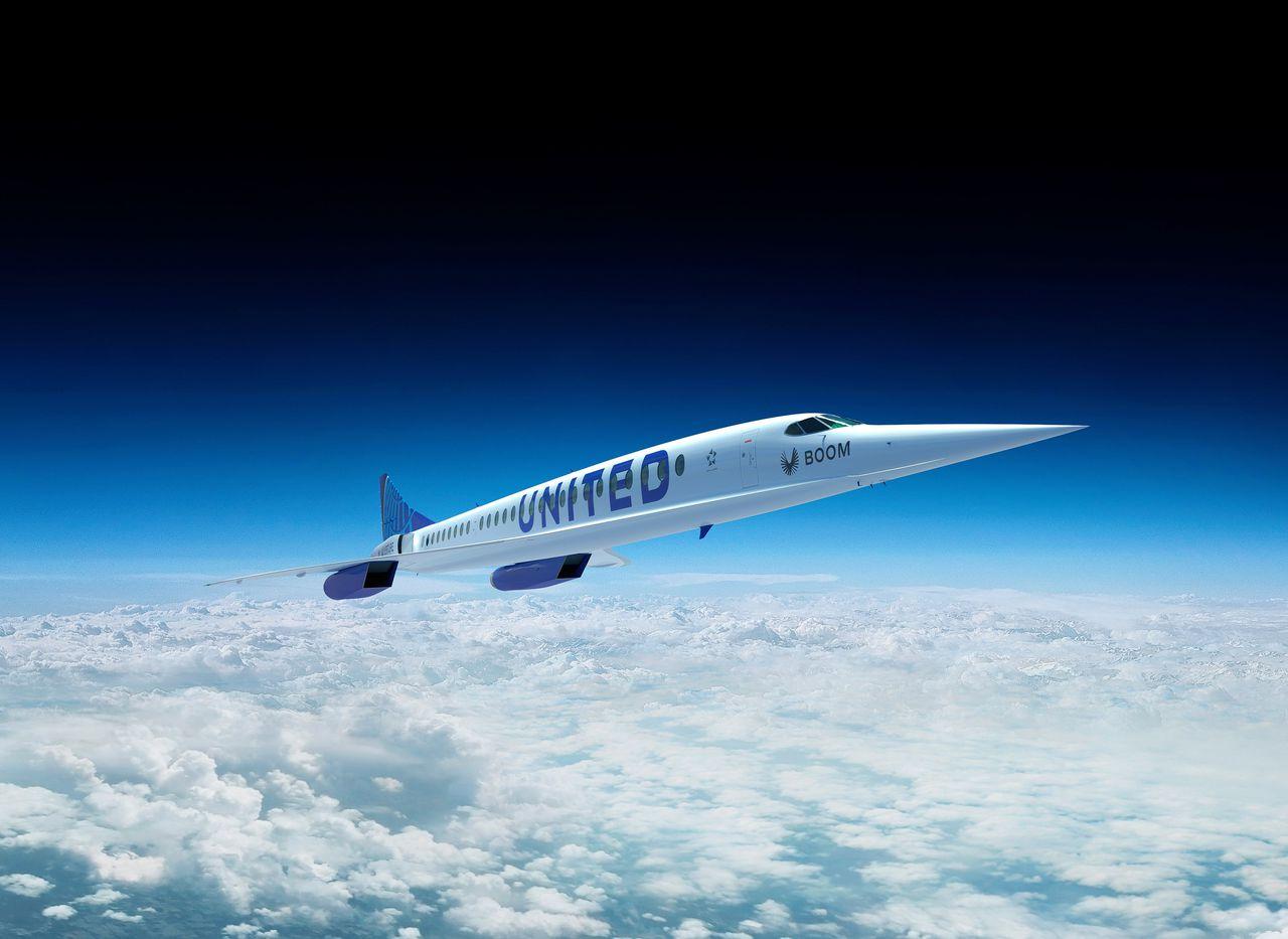 Een schets van hoe het vliegtuig er uit komt te zien.