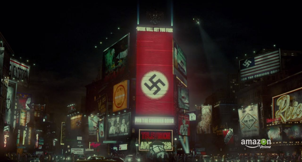 Zo ziet Times Square eruit in de nieuwe dramaserie The Man in the High Castle van internetgigant Amazon.