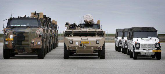 140 voertuigen werden in maart door Defensie op een transportschip ingeladen voor de missie in Mali.