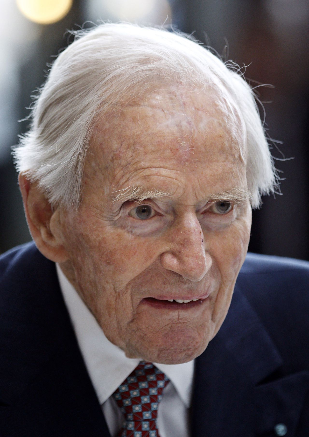 FILE - In this April 4, 2011, file photo of Danish ship-owner Arnold Maersk Mc-Kinney Moeller, who has died it is announced Monday April, 16, 2012. Arnold Maersk Mc-Kinney Moeller, the Dane who created the global shipping and oil conglomerate A.P. Moller-Maersk A/S, died Monday at the age of 98, his company said. Maersk Mc-Kinney Moeller undertook the daily management of the company until 1993 and became chairman of A.P. Moeller – Maersk A/S until 2003. (AP PHOTO/POLFOTO, Jens Dresling) DENMARK OUT