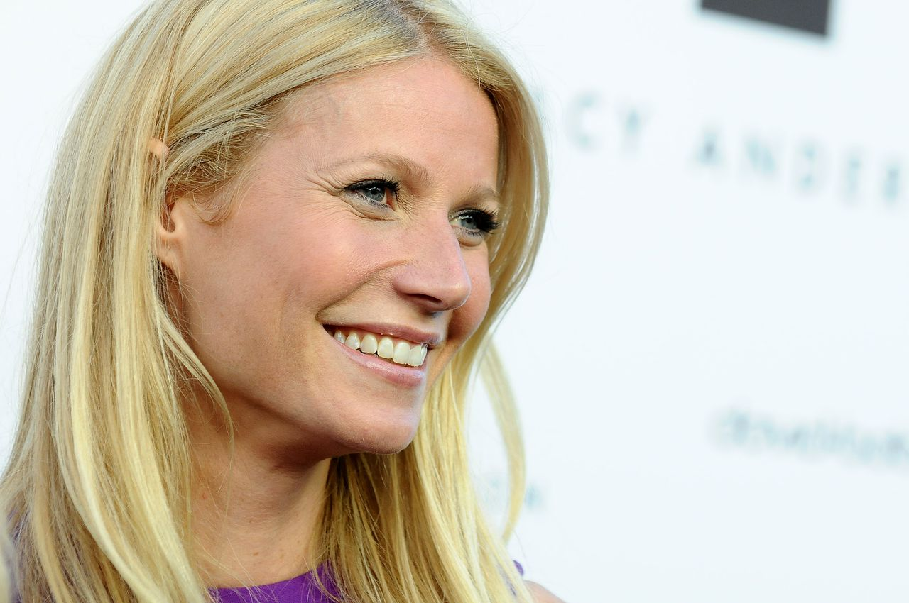 Gwyneth Paltrow arrives at the opening of the Tracy Anderson flagship studio on Thursday, April 4, 2013 in Los Angeles. (Photo by Jordan Strauss/Invision/AP)