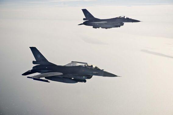 Het kabinet stelt F-16's beschikbaar voor het doen van patrouillevluchten.