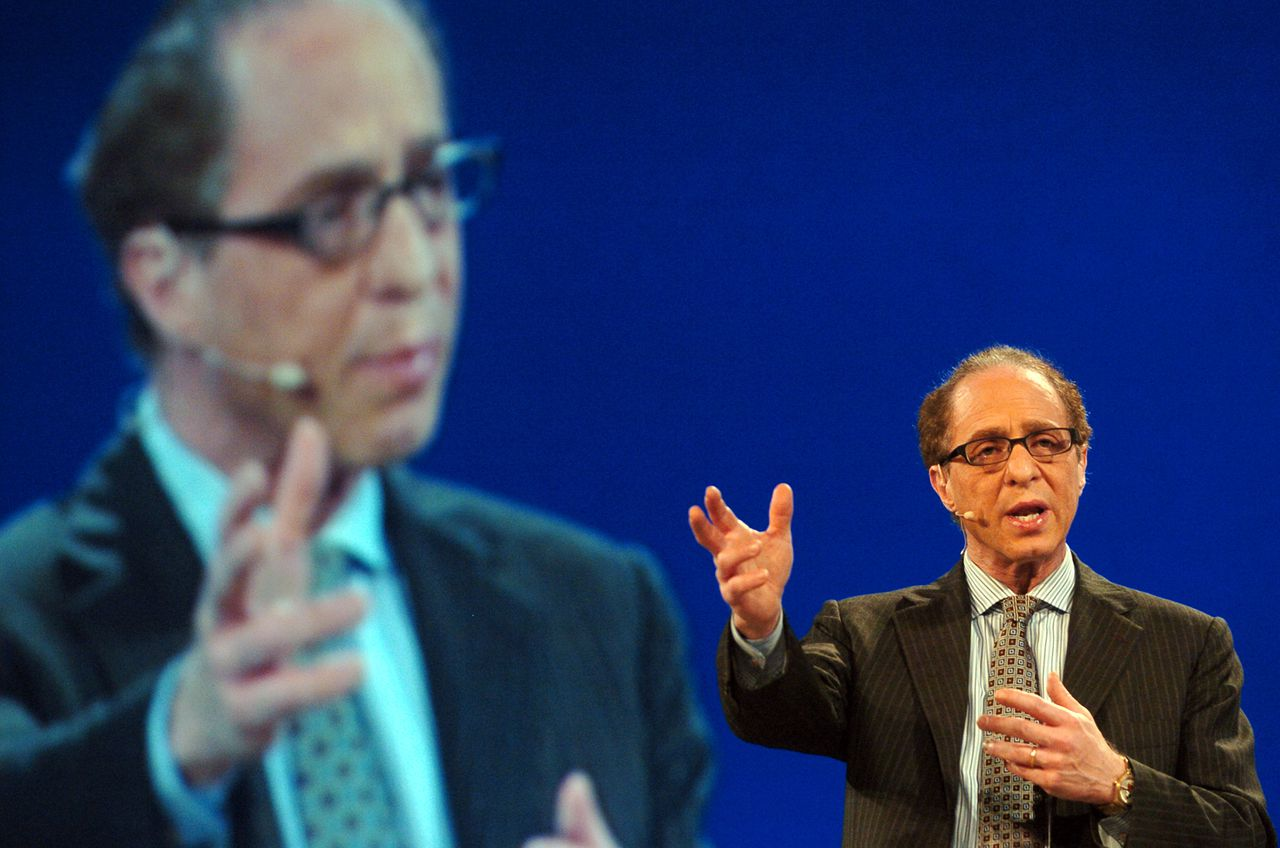 Ray Kurzweil, inventor and author, speaks at the RSA Conference in San Francisco, California, on Wednesday, Feb. 7, 2007. Photographer: Erin Lubin/Bloomberg News.