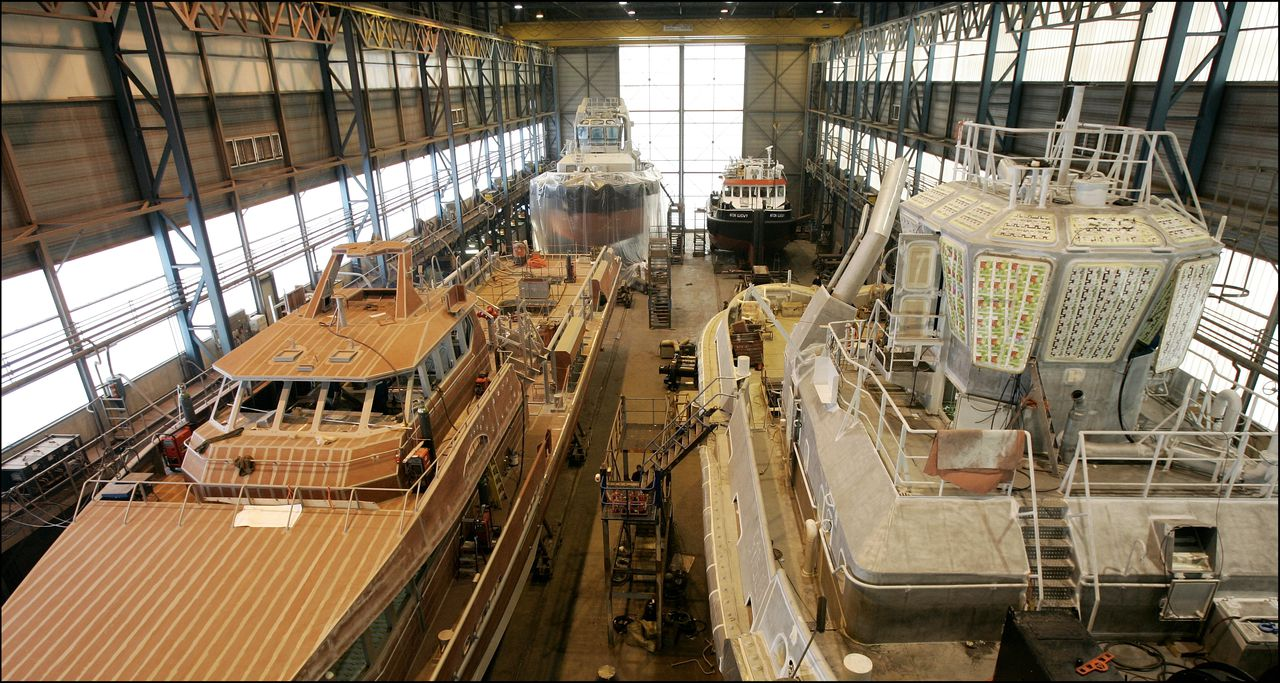 Archiefbeeld van Damen Shipyards in Gorinchem.