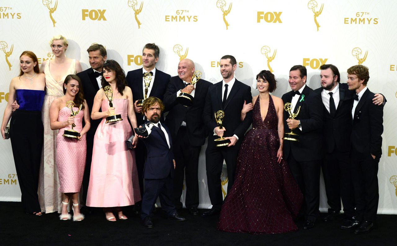 De cast van 'Game of Thrones' bij de Emmy Awards zondagavond in Los Angeles.