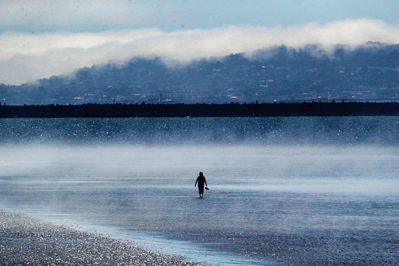 Mist in Dublin Bay.