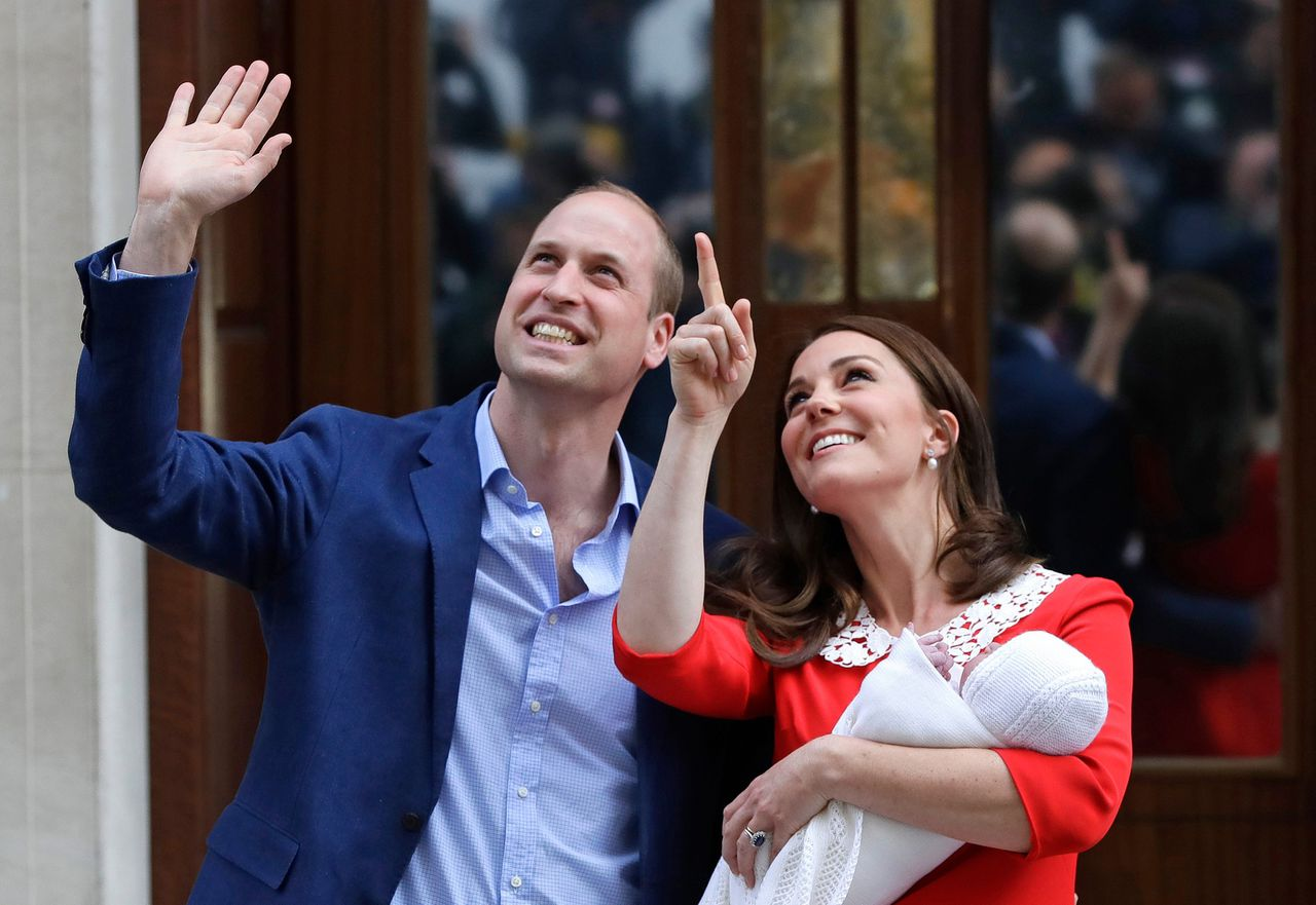 Prins William, Kate en het pasgeboren kind.