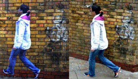 Street Ghost in Londen.