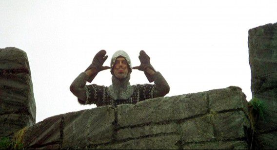 John Cleese in Monty Python and the Holy Grail.