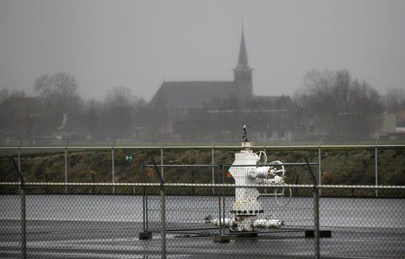 Gaswinning in het noordoosten van Friesland.