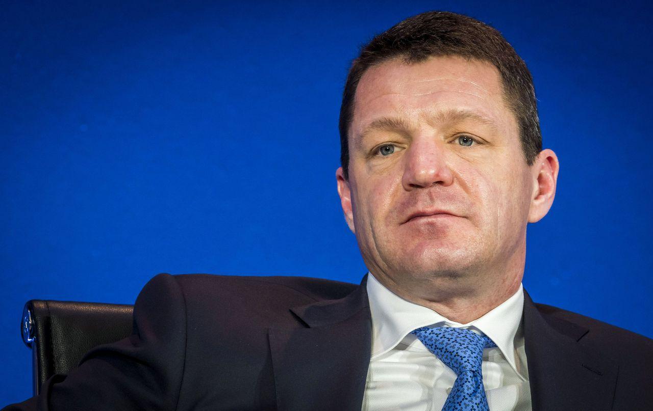 KLM-topman Pieter Elbers tijdens de bekendmaking van de jaarcijfers van Air France-KLM, 20 februari.