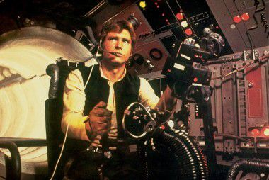 Harrison Ford als personage Han Solo in de film Star Wars Episode IV - A NEW HOPE