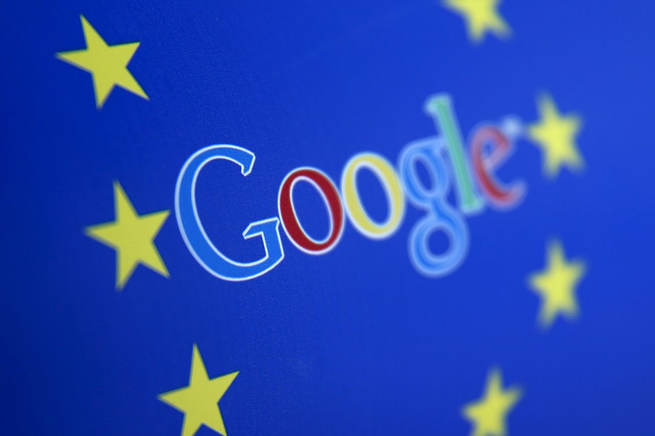 Google and European Union logos are seen in Sarajevo, in this April 15, 2015 photo illustration. The European Union accused Google Inc on Wednesday of cheating competitors by distorting Internet search results in favour of its Google Shopping service and also launched an antitrust probe into its Android mobile operating system. REUTERS/Dado Ruvic