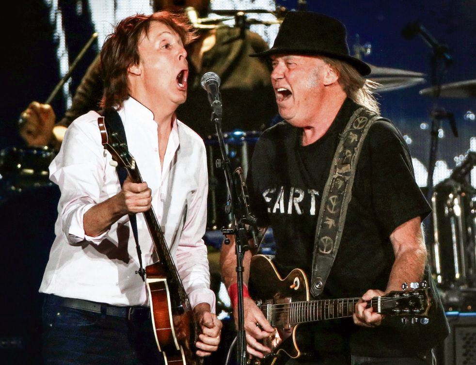 Paul McCartney en Neil Young op Desert Trip