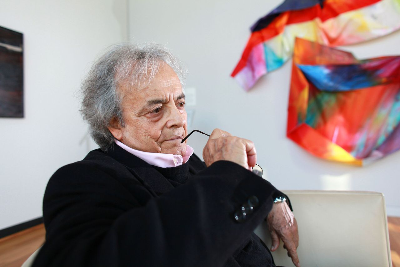 Adonis, the Syrian-born poet and perennial Nobel favorite, in Anne Arbor, Mich., Oct. 11, 2010. Adonis has a new volume of selected poems and will read at the 92nd Street Y in New York on Oct. 25. (Fabrizio Costantini/The New York Times)