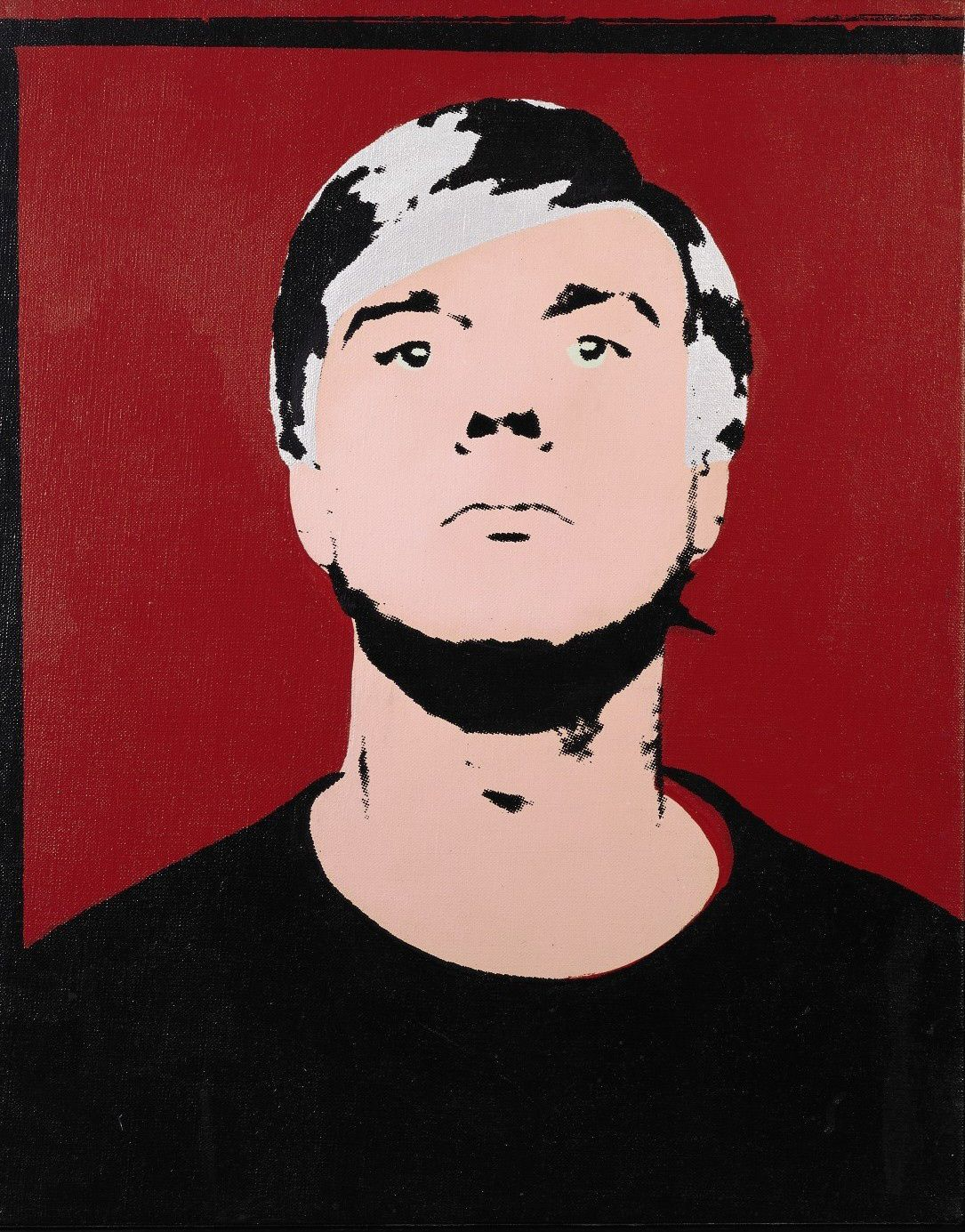 """Zelfportret Andy Warhol uit 1964 Foto AFP/Sotheby's This handout image received 02 November 2006, courtesy of Sotheby's in New York, shows American Andy Warhol's, """"Self-Portrait"""", 1964, estimated at 3.5 million to 4.5 million USD which will be part of the Contemporary Art sale 14-15 November at Sotheby's auction house in New York. Twenty years after his death pop art icon Andy Warhol is a seminal influence for contemporary artists and a collectors' darling, even though what drove the man and his art remains a mystery. 22 February, 2007 marks the 20th anniversary of Warhol's passing. AFP PHOTO/SOTHEBY'S =GETTY OUT= = NO SALES ="""