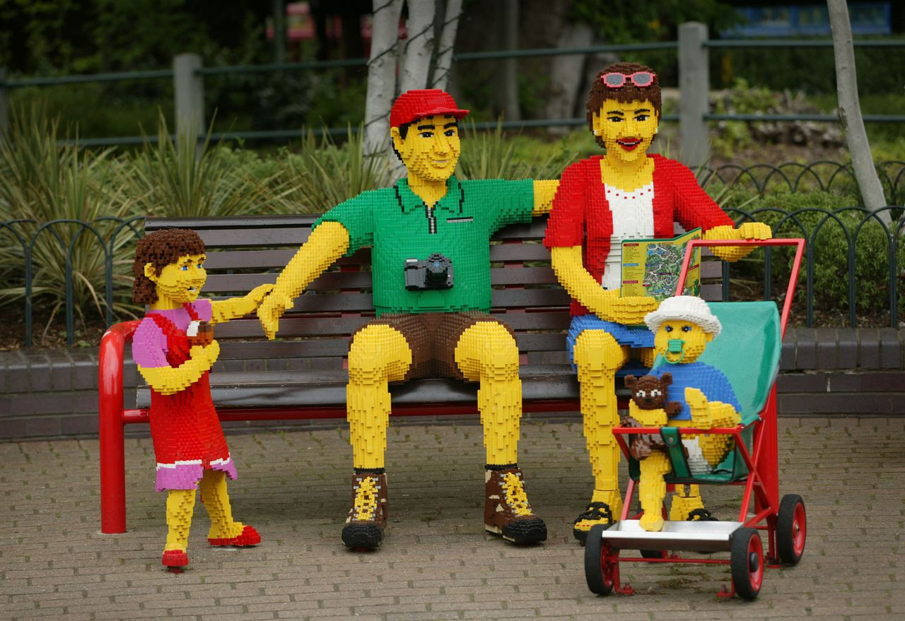 A 'Lego Family' seen at Legoland in Windsor, Berkshire today, Wednesday May 25 2005. Photographer: Graham Barclay/Bloomberg News