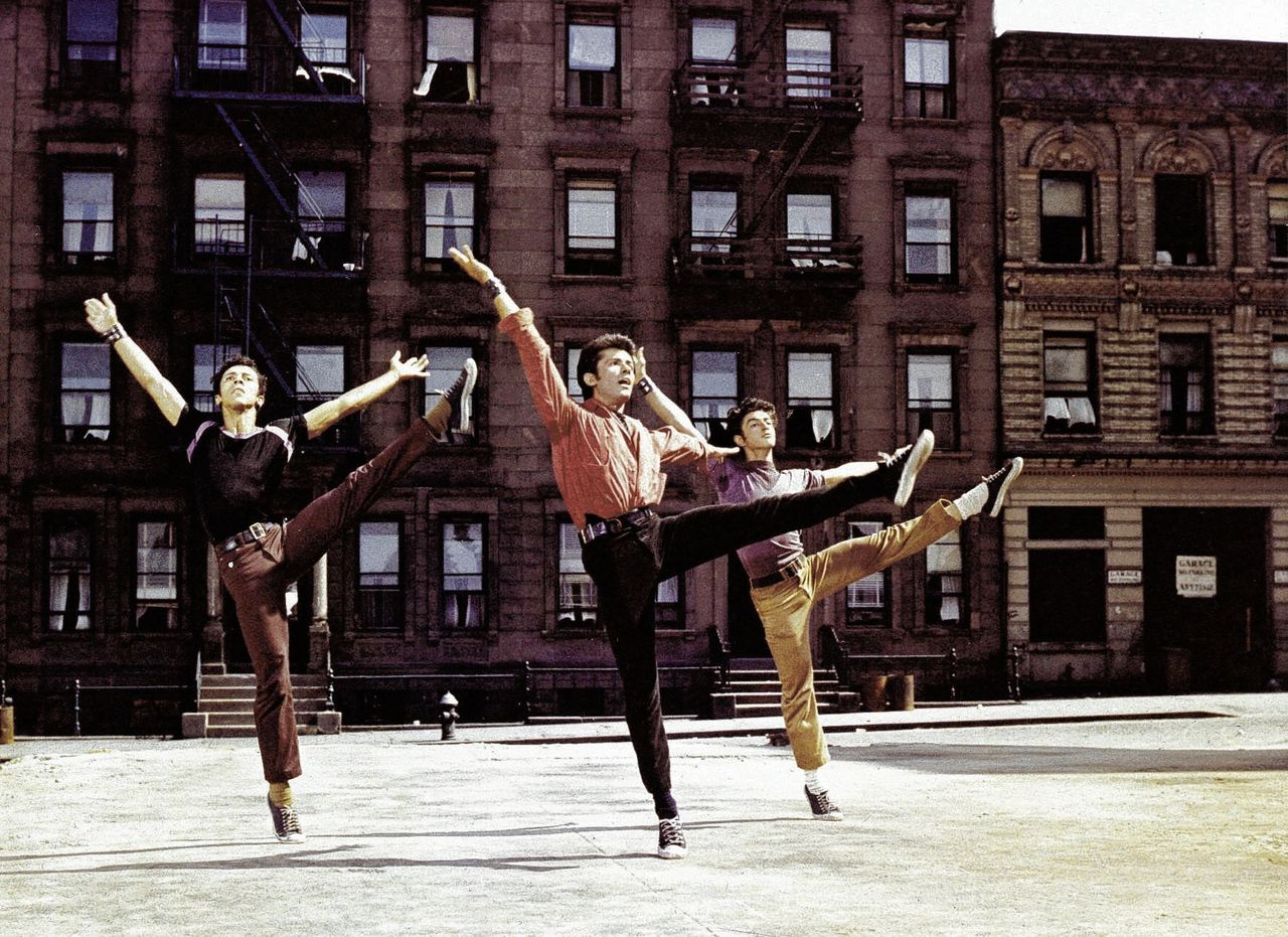 Still uit de verfilming van Bernsteins musical West Side Story door Robert Wise en Jerome Robbins (1961)