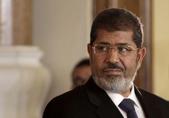 Mohammed Morsi hier nog als president voordat hij afgezet werd.