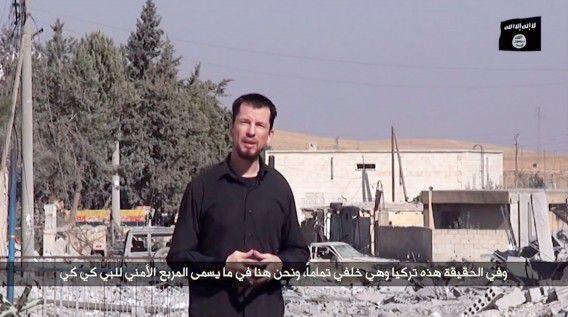 John Cantlie in de video van IS die in Kobani zou zijn opgenomen.
