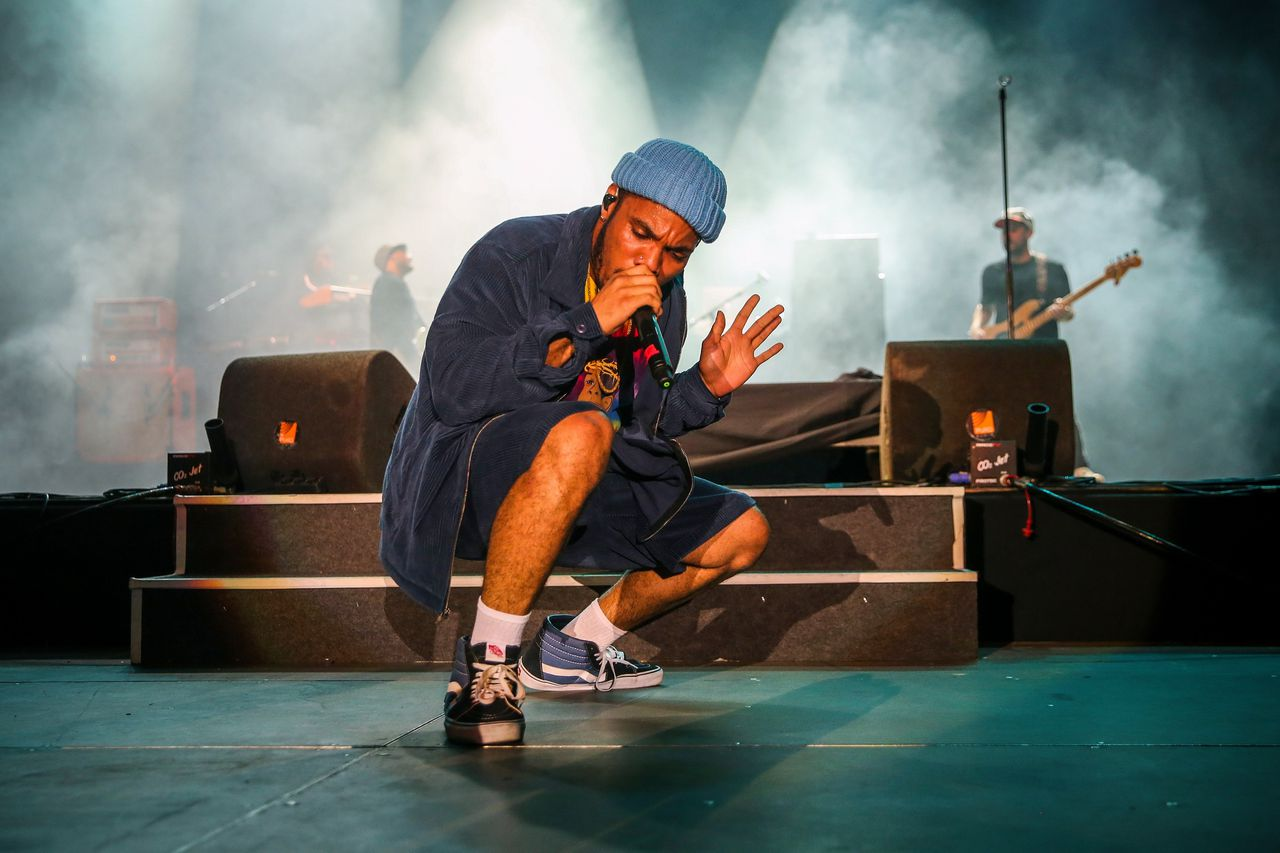 Anderson .Paak & The Free Nationals tijdens het Super Bock Super Rock Festival in Lisabon op 20 juli 2018