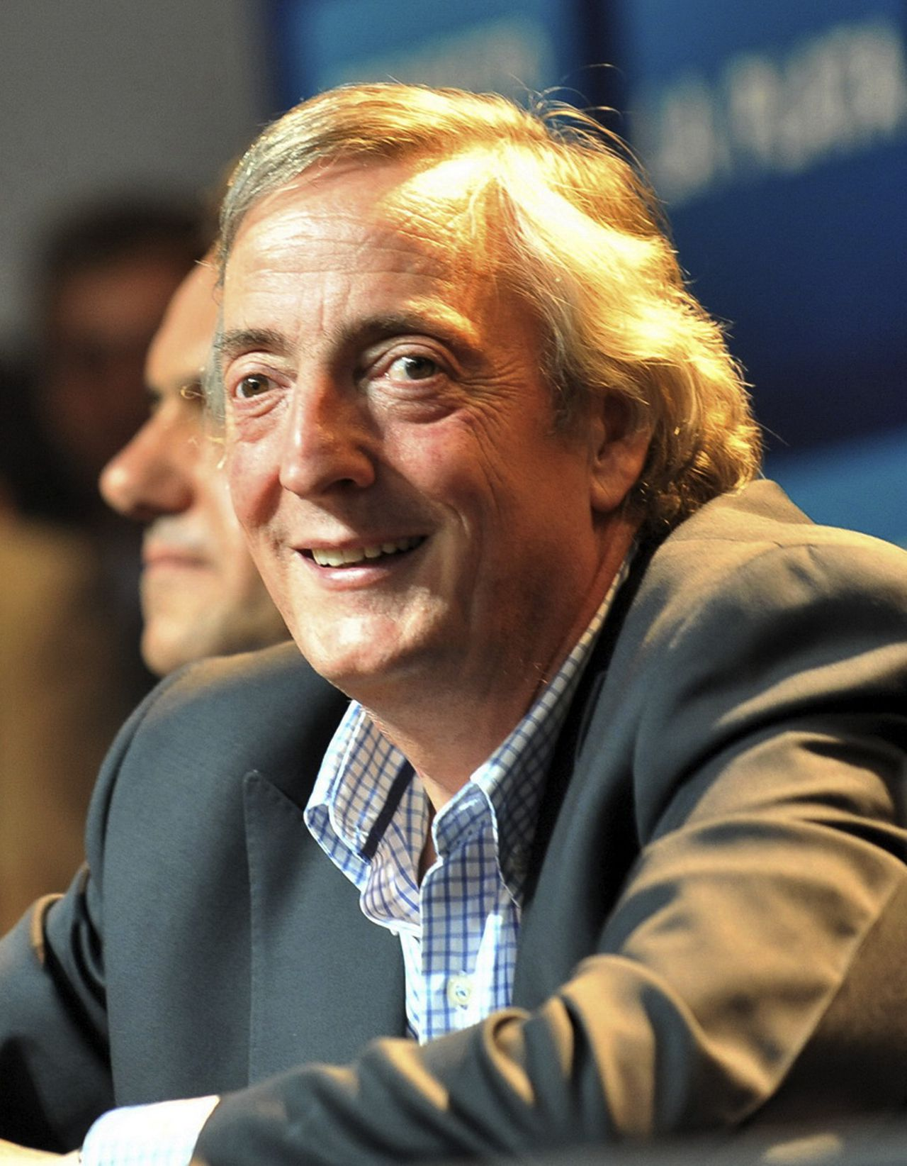 Congressman Nestor Kirchner, former Argentine president and husband of Argentine President Cristina Fernandez, attends a rally to mark his first public appearance, since undergoing carotid artery surgery, in La Plata, in this February 24, 2010 file photo. Kirchner, one of the country's most powerful politicians, died October 27, 2010, his doctor said. Kirchner, considered President Cristina Fernandez's closest advisor and a major power broker in her government, had been expected to run again for president in next year's election. REUTERS/Imagen 233/Handout/Files (ARGENTINA - Tags: POLITICS OBITUARY) FOR EDITORIAL USE ONLY. NOT FOR SALE FOR MARKETING OR ADVERTISING CAMPAIGNS
