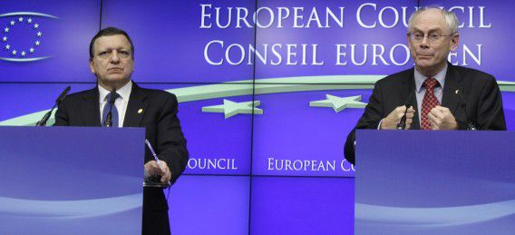 French President Nicolas Sarkozy speaks during a media conference at an EU summit in Brussels on Friday, Dec. 9, 2011. European leaders are wrestling over how much of their sovereignty they are willing to give up in a desperate attempt to save the ambitious project of continental unity that grew from the ashes of World War II. At stake at the summit in Brussels, which began Thursday evening, is not only the future of the euro, but also the stability of the global financial system and the balance of power in Europe. (AP Photo/Virginia Mayo)