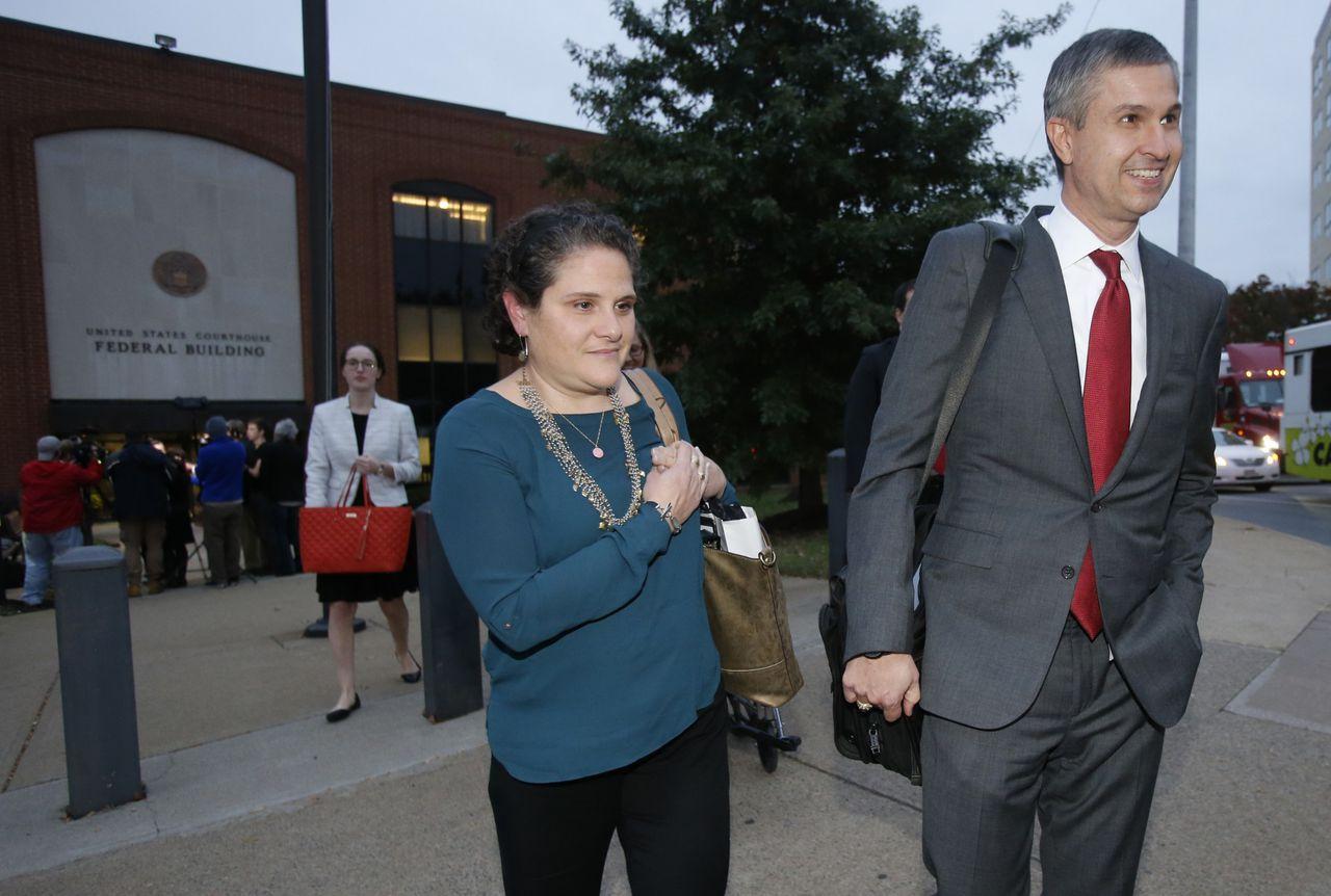 UVA-decaan Nicole Eramo na de zitting dinsdag.